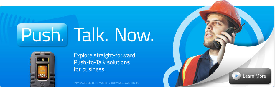 Push. Talk. Now. | Explore straight-forward Push-to-Talk solutions for business.